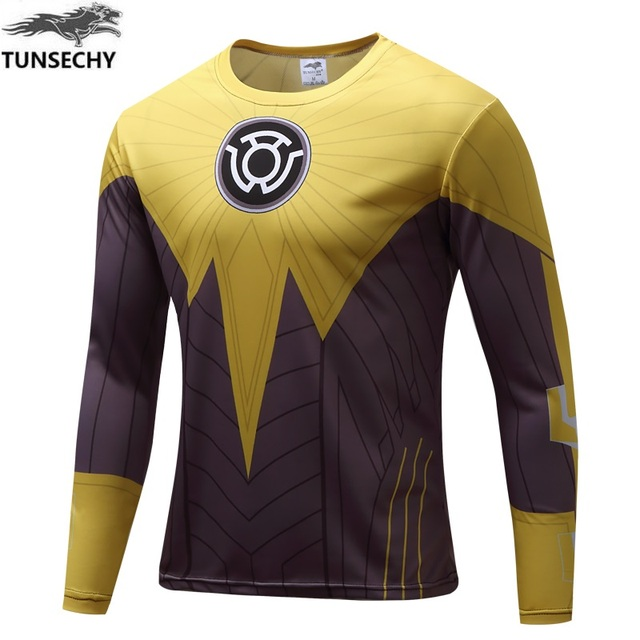 d48d46586805 2017 Brand fashion spider-man captain America avenger heroes men long  sleeve T-shirt free shipping wholesale and retail