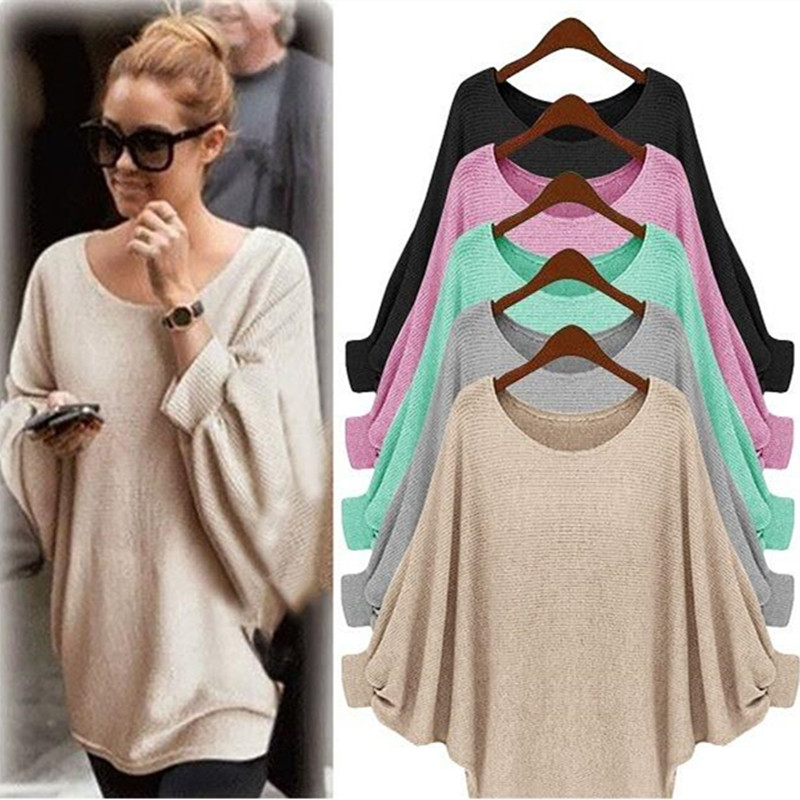 High quality new womens wear of the European and American autumn and winter bat-sleeves loose style fashionable sweater blouse
