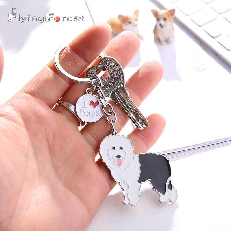Old English Sheepdog Metal Key or Leash Hanger *NEW*