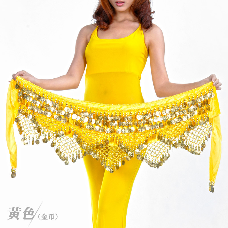 320 Coin Belt Belly Dance Costume Belly Dance Hip Scarf Shawl Belly Dance Waistband Fringe Waist Chain Belt Dancing