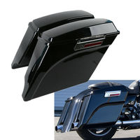 5 Vivid Black Stretched Extended Hard Saddlebags For Harley Touring Model Motorcycle 97 13 1998 1999 2000 2001 2002 2003
