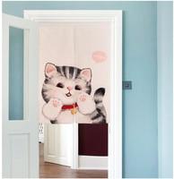 Korean Style Cartoon Cotton Curtain Fabric Children S Half Curtain Bathroom Entrance Cut Off The Bedroom