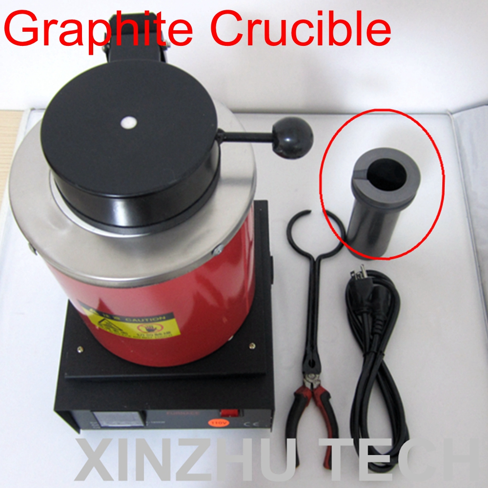 2KG Capacity Graphite Pot Gold Melting Furnace Accessories Graphite Crucible Jewelry Melting Crucible