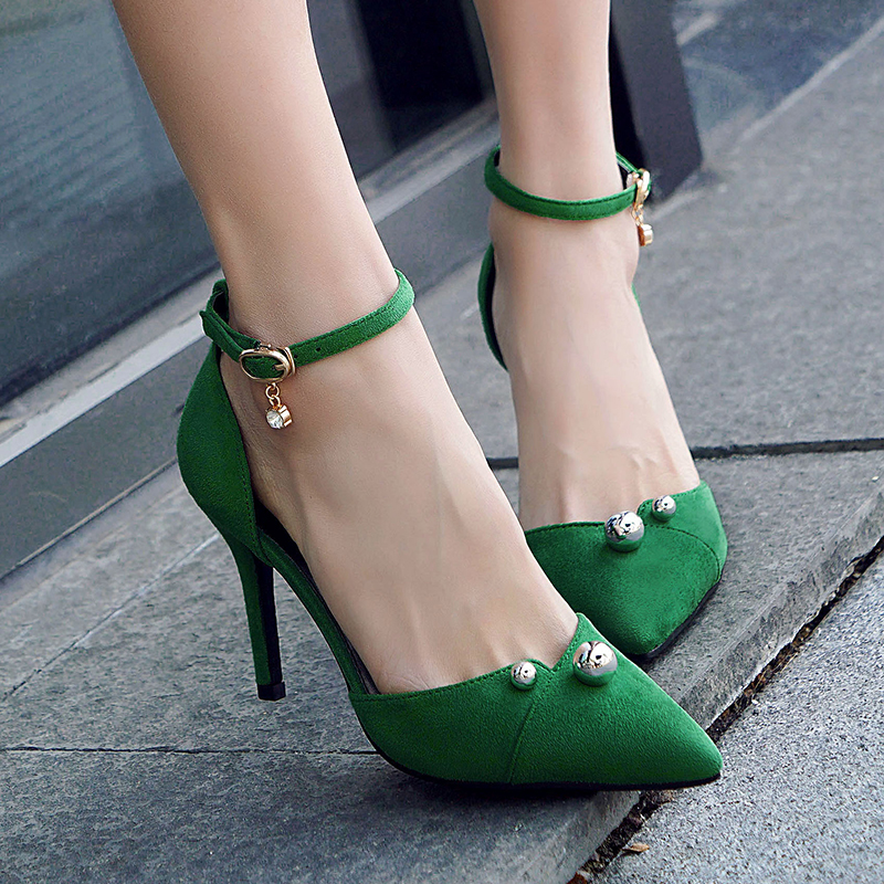 2018 spring new word buckle wild high heel stiletto pointed single shoes sexy fashion shoes. 2015 spring wedges single shoes high heel shoes sexy fashion women s platform shoes