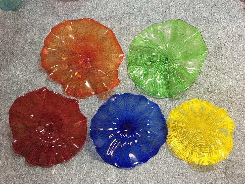 Plaques d'art lustre verre dôme lumière Air expédition 100% bouche soufflé Borosilicate Murano verre fleur éclairage - 2