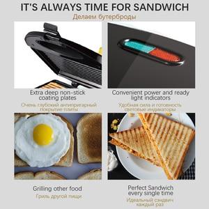 Image 3 - 전기 와플 메이커 철 샌드위치 기계 비 스틱 팬 버블 계란 케이크 오븐 가정용 아침 식사 와플 기계 Sonifer