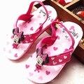 Nuevas Muchachas de la Llegada de Playa Zapatos de la Historieta Encantadora Girls Elastic Band Diseño Flip Flop Zapatos Sandalias de La Princesa Sandalias de Las Muchachas Sandalias