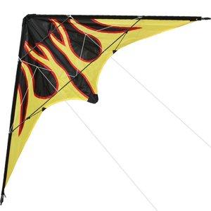 Уличные веселые спортивные новые 48-дюймовые Двухлинейные трюковые воздушные змей/воздушный змей в виде пламени с ручкой и леской