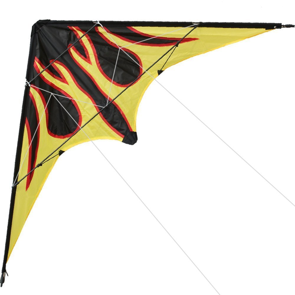 Outdoor Fun Sports NEW 48 Inch Dual Line Stunt Kites / Flame Kite With Handle And Line Good Flying