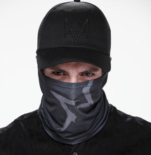 Wholesale Watch Dogs Face MASK + CAP Hat Aiden Pearce Costume Cosplay Scarf Baseball Caps Top Sale