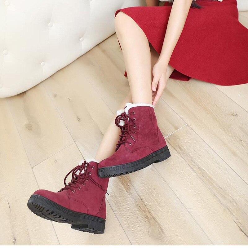 Mujer Botas Chuteira azul rojo De marrón Tacones H 098 Moda Negro Marca Nieve gris Botines Nueva Calientes Para Invierno Zapatos BI5aqx7nww