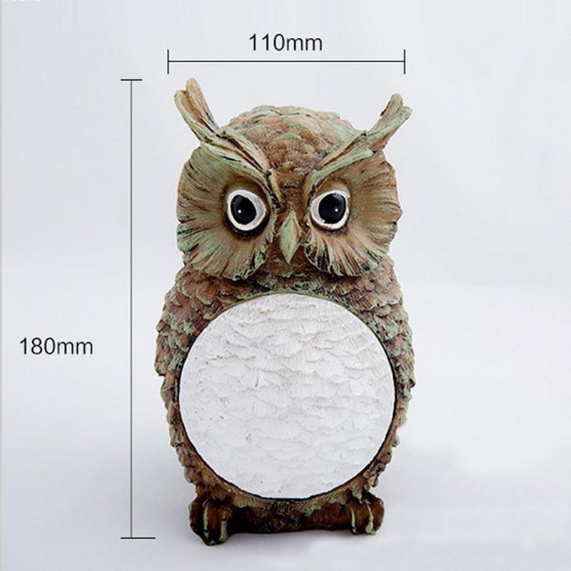 Solar Resin Owl Shape Decoration Light For Garden Cute