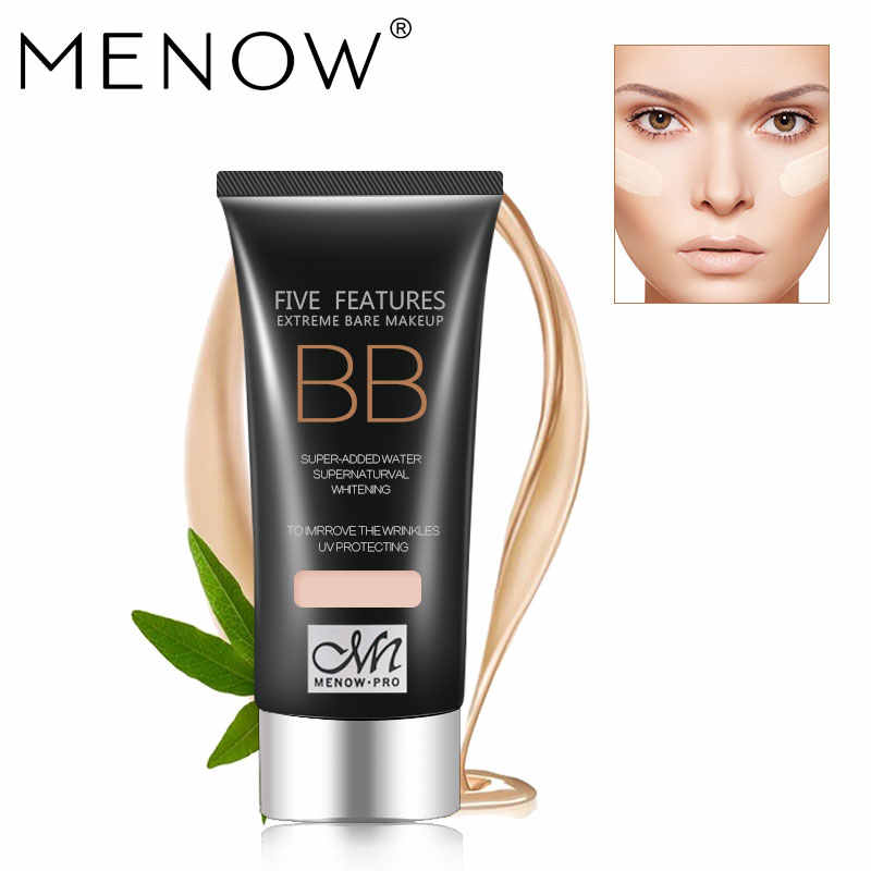 MENOW Brand Make up set  UV Protection Moisturizing BB Cream & control oil breathable powder & Foundation Brush Cosmetic Kit5342