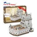 Умный и счастливую land 3d-пазл модель белен башня взрослые пазл своими руками бумага модель игры для дети бумага