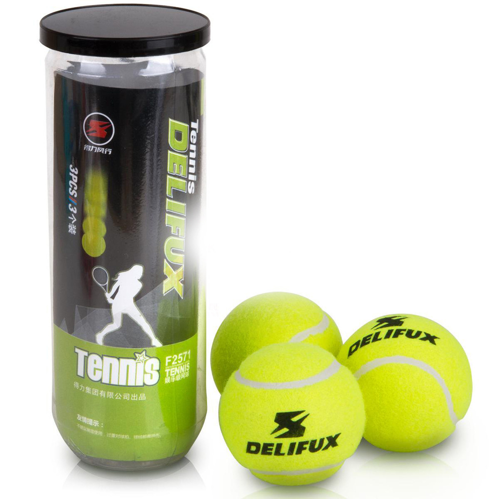 3pcs/pack Natural Rubber + Synthetic Wool Fiber Entry-level Tennis Balls For Children Playing Dog Training Tennis Ball 02