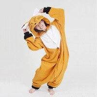 New 2015 Adult Animal Pajamas Small Foxes Loose Fleece Pajamas Sleepsuit Onesie Sleepwear Unisex Cosplay Plus