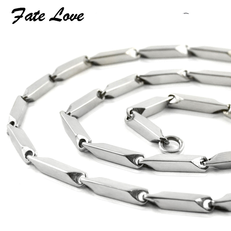 316L Stainless Steel Necklace Men Chain Necklace Women's/ Men's 2/3/4MM 45/50//55/60CM Silver Color Jewelry