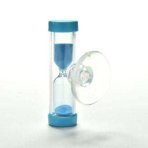3 Minute Hourglass Sand Timer Clock Sandglass for Tooth Brush Shower Timer with Suction Cup Kid Child Math Learning Toys(China)