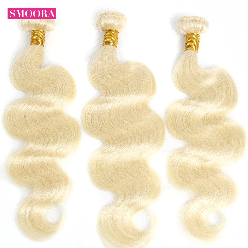 Smoora 613 Blonde Bundles with Frontal  Body Wave Blonde  Bundles with Pre Plucked Frontal Ear to Ear  3