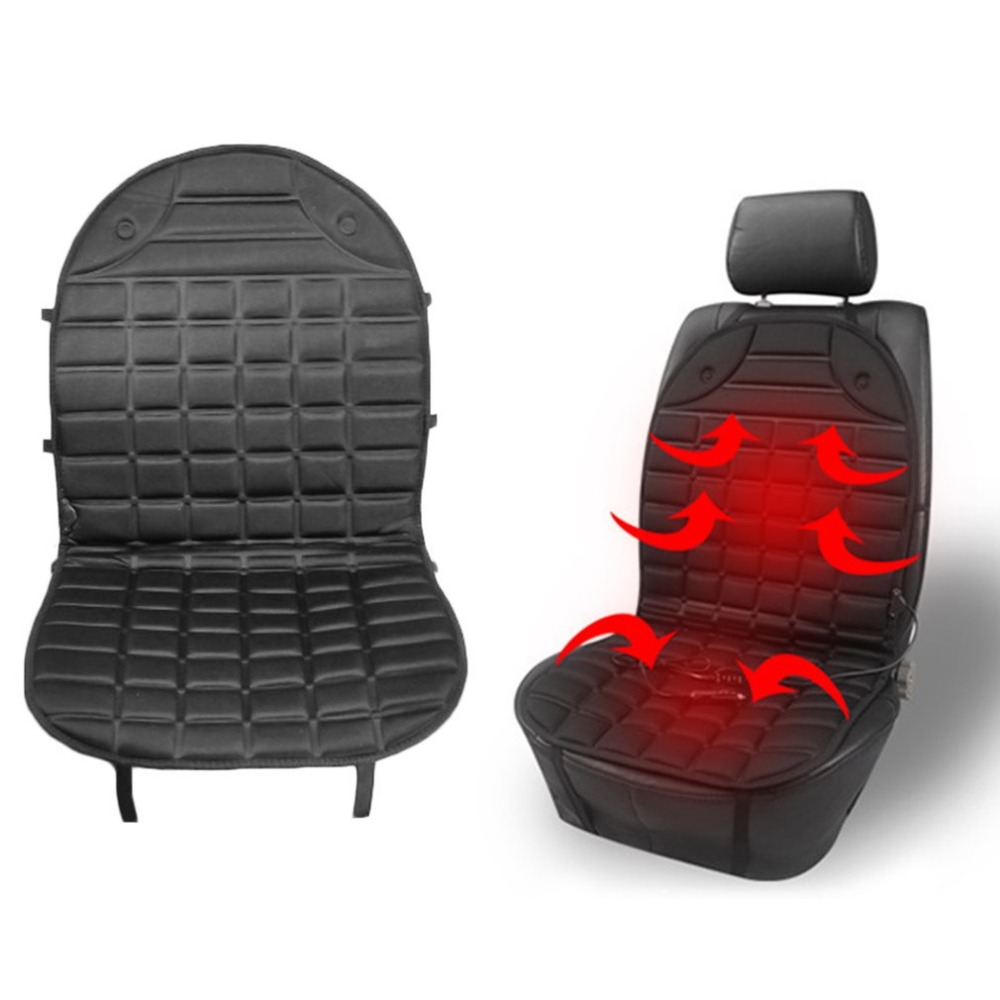 Car Seat Heated Cover 36-45W 12V Front Seat Heater Auto Winter Warmer Cushion Portable Automobile Accessories Hot Car-styling