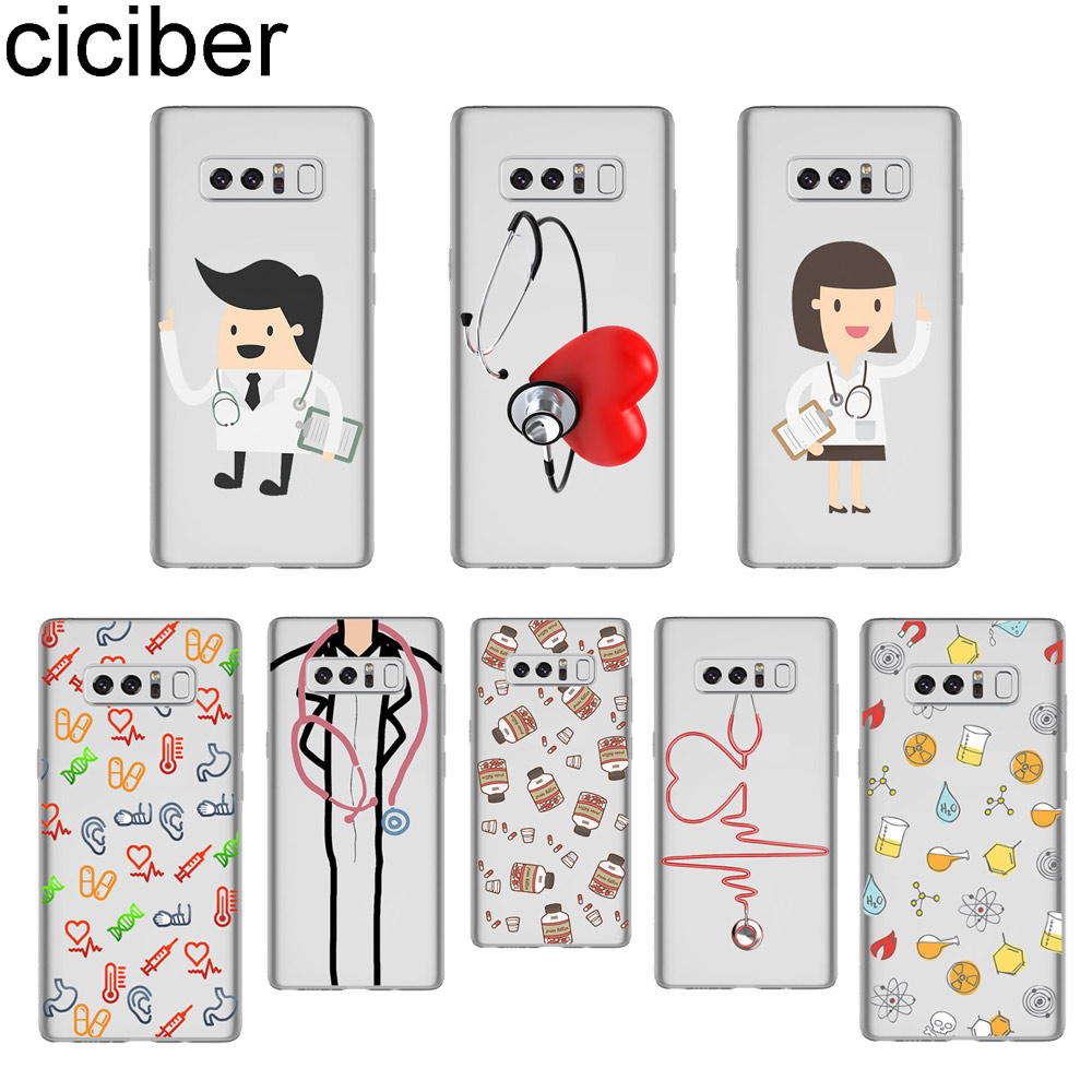 Phone Bags & Cases The Best Ciciber Cartoon Doctor Phone Case For Samsung Galaxy Note 8 3 4 5 Soft Silicone Tpu Clear Cover For Galaxy Note 9 Coque Fundas