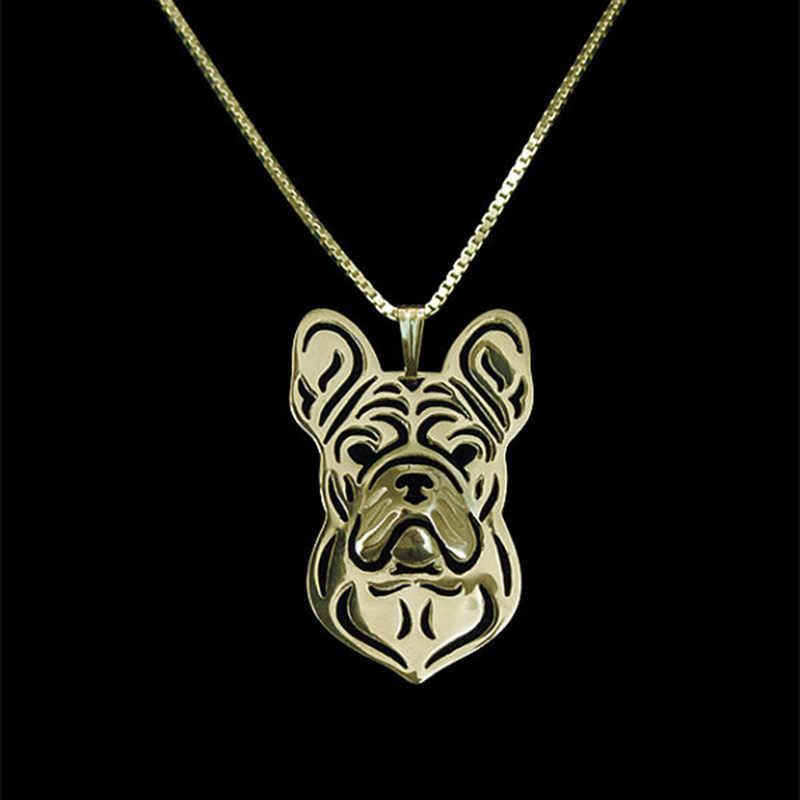 Mới Độc Đáo Lãng Mạn Vàng Màu Bạc Pháp Bulldog Mặt Dây Chuyền Vòng Cổ Tuyệt Thực Trò Chơi Vòng Cổ Nữ Người Bạn Thân Nhất Choker