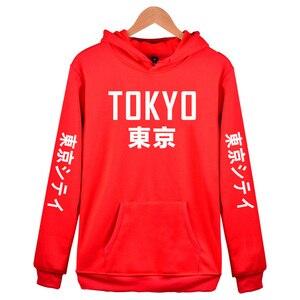 Image 5 - 2019 New Arrival Japan Harajuku Hoodies Tokyo City Printing Pullover Sweatshirt Hip Hop Streetwear 4XL Plus Size Clothing