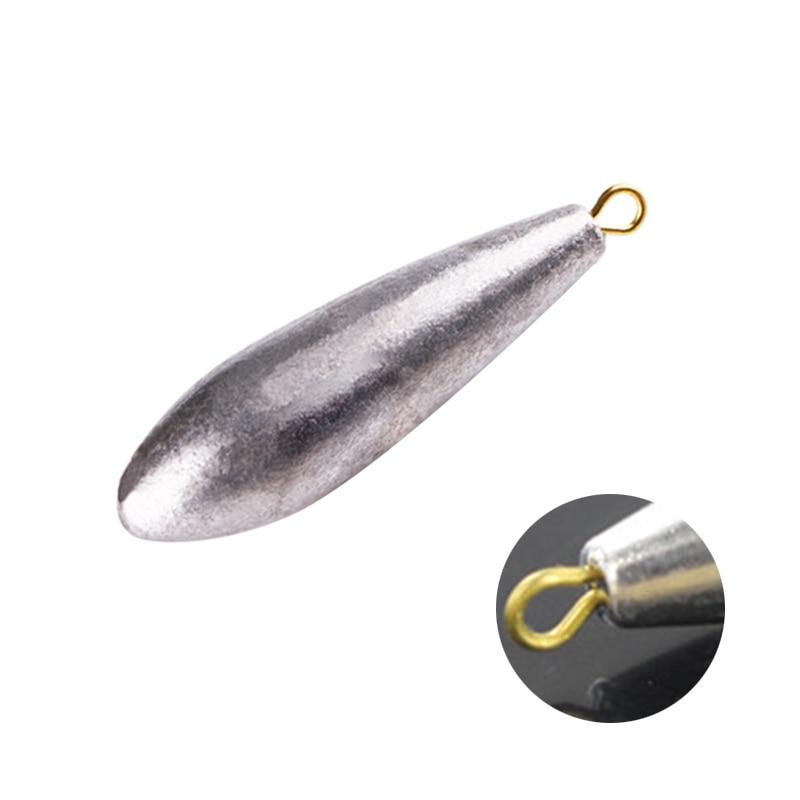 10 Pcs Fishing Sinkers Water Drop Shaped Lead Sinker 10g-50g Weights YS-BUY