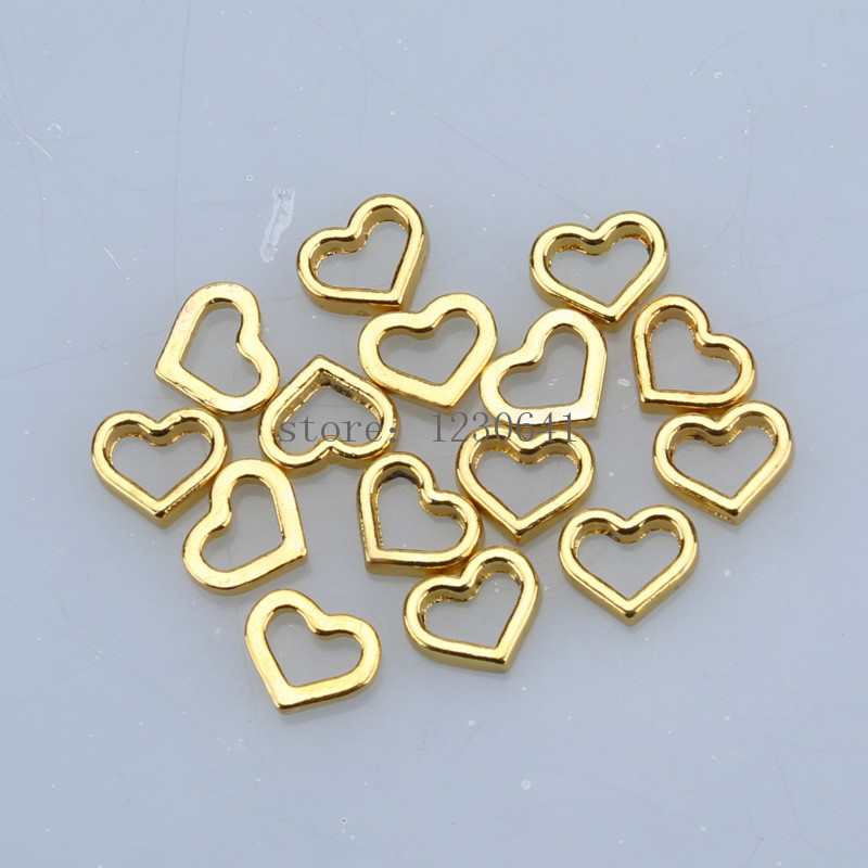 New fashion diy gold design hollow love christmas faith floating trendy charms fits glass for woman gift