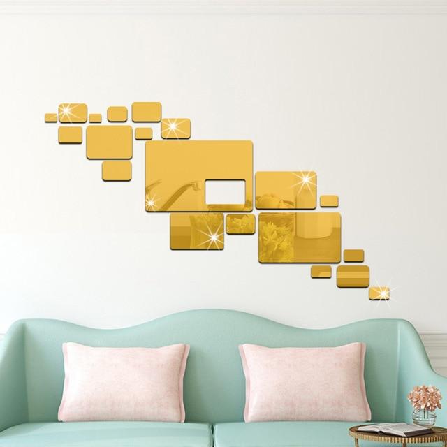The Geometric Hexagon 3D Art Mirror Wall Sticker Decal Home DIY ...