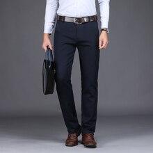 6364ec33d59a NIGRITY 2019 Nova Primavera dos homens Fashion Business Casual Calças  compridas masculino Elásticas Calças Retas formais