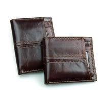 ce8ad065f Nesitu RFID Blocking Vertical Horizontal Best Gift High Quality Chocolate  Genuine Leather Men Wallets Women Purses