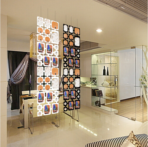 4pcs black plastic diy wall photo frames hanging screen panel partition room divider wedding. Black Bedroom Furniture Sets. Home Design Ideas