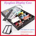 16A/B очки дисплей случае с прозрачной крышкой, зрелище дисплей окно, чемодан, для проведения 16 шт. солнцезащитных очков