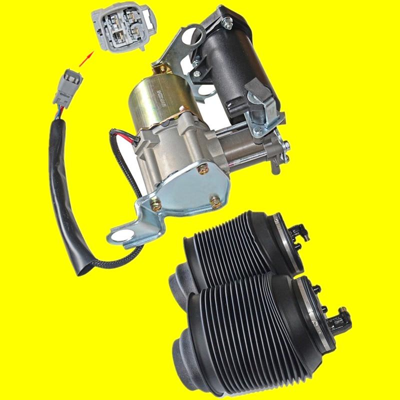 AP01 New Compressor & Air Springs Bag Kit For Toyota 4 Runner Lexus GX GX470 Land Cruiser Prado 120 J12 2003-2009