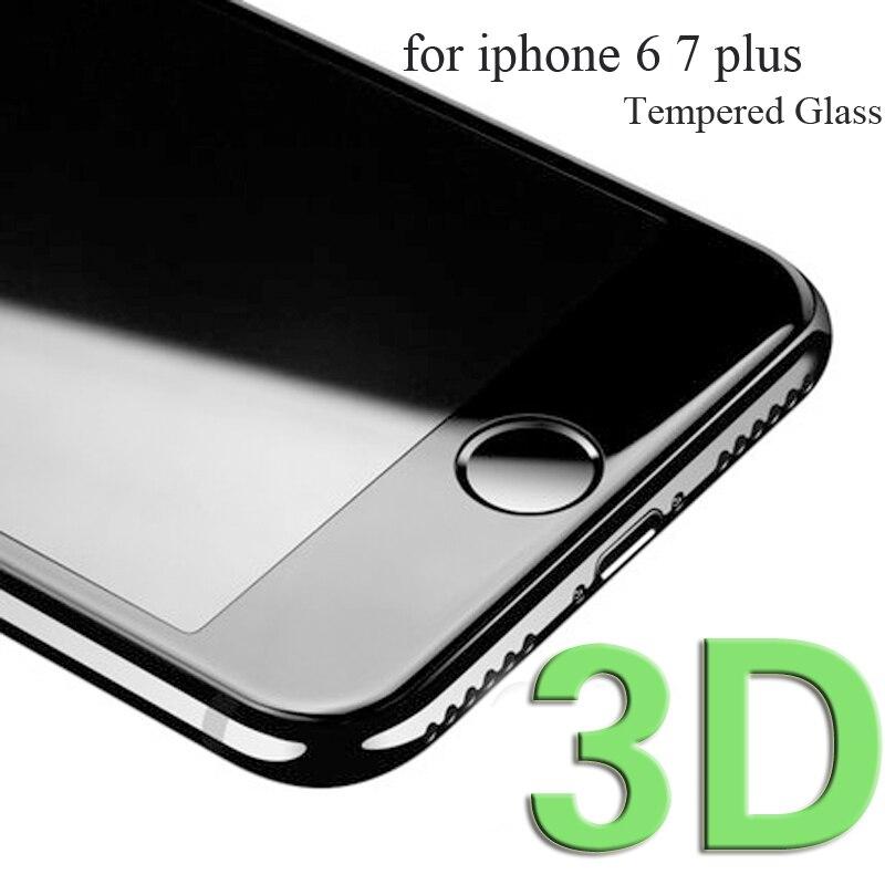 80 pièces Fiber de carbone 3D bord incurvé verre de couverture complète pour iphone X verre trempé pour iphone 6 S 7 Plus écran protector2