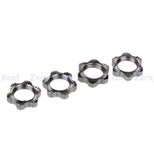 81212 Aluminum Wheel Hex Nuts 4pcs For RC HSP 1/8 Model Car Buggy Truck Parts