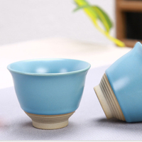 Portable Chinese Tea Set Ceramic Teapot Leaves Jar 3 Porcelain Tea Cups with Carrying Case FP8