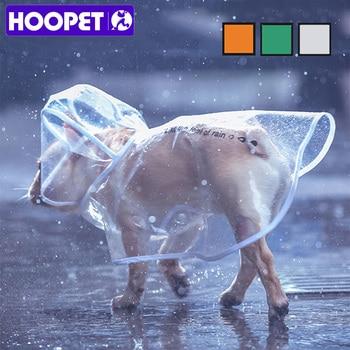 HOOPET Pet Impermeabile Impermeabile Del Cane Vestiti Dell'animale Domestico Trasparente Luce Impermeabile Abbigliamento Impermeabile Piccolo Impermeabile Del Cane con cappuccio 1