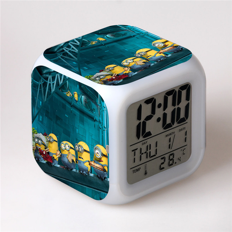 Small Yellow People Groups Colorful Alarm Clock Quartet LED Clock Digital Alarm  Clock Bedroom Clocks With. Compare Prices on Small Led Alarm Clock  Online Shopping Buy Low