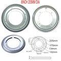 8 дюймов (200 мм) круглой формы оцинкованный Lazy Susan вращающийся подшипник поворотная пластина для кухонных шкафов