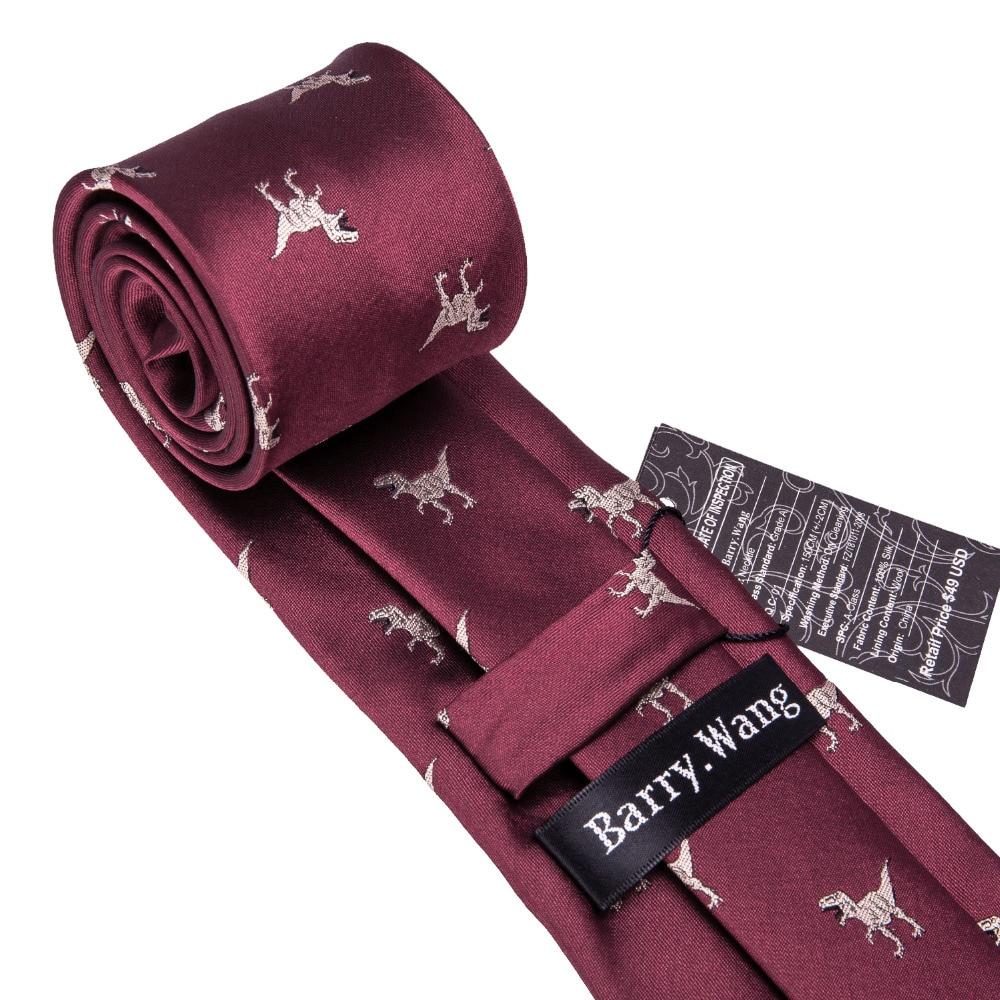 8b253c3af834 2018 New Arrival Men's Ties Dinosaur Pattern Red Mens Wedding Neckties  8.5cm Necktie Business Silk Ties For Men Tie FA 5060-in Men's Ties &  Handkerchiefs ...