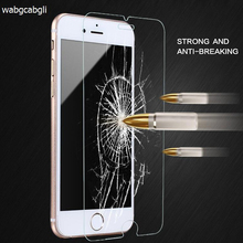 цена на 2.5D 0.3mm Premium Tempered Glass Screen Protector On The for iPhone4 4s 5 5S 5C  6 6s 7 Plus HD Toughened Protective Film