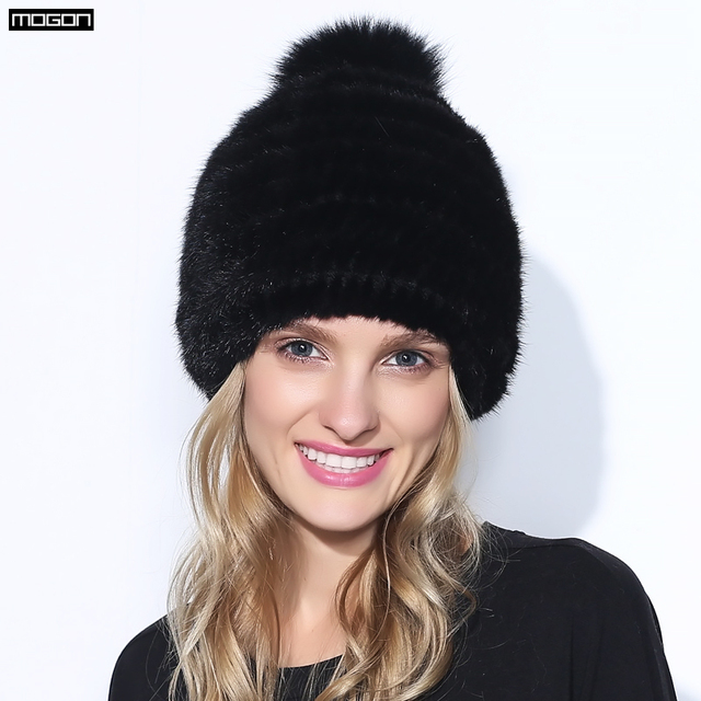 2016 Hot Sale Winter Mink Fur Hat For Women Genuine Natural Pineapple Cap Russian Beanies Fashion Good Quality Thick Warm Hats
