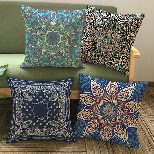 Aliexpress.com : Buy 45*45cm Square Indian Mandala Style