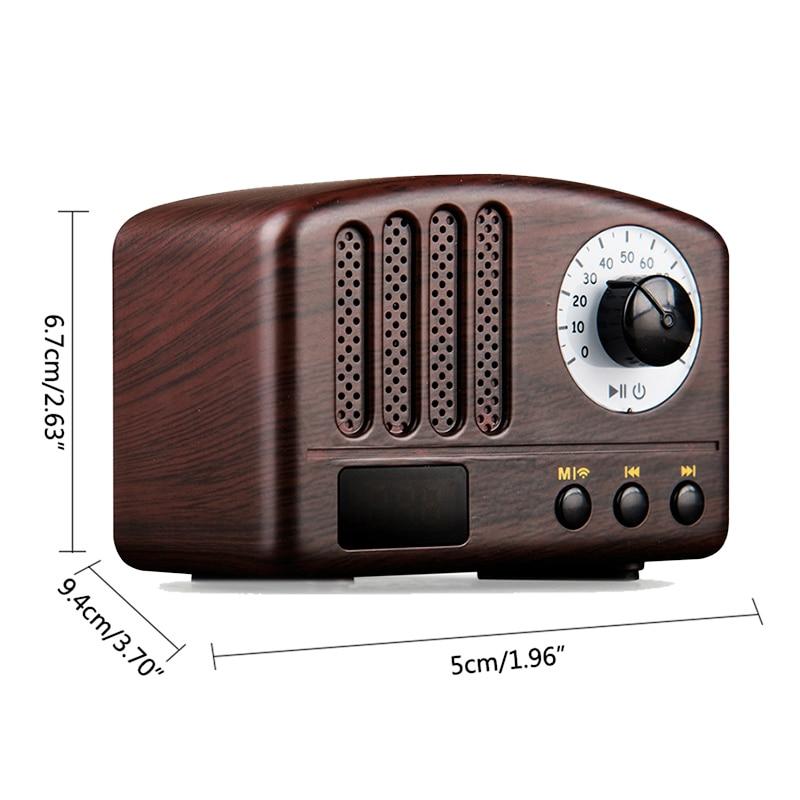 Wireless Bluetooth Retro Speaker Rechargeable Portable Wireless Music Soundbar TF USB Flash Disk AUX FM Radio Bluetooth Speake (8)
