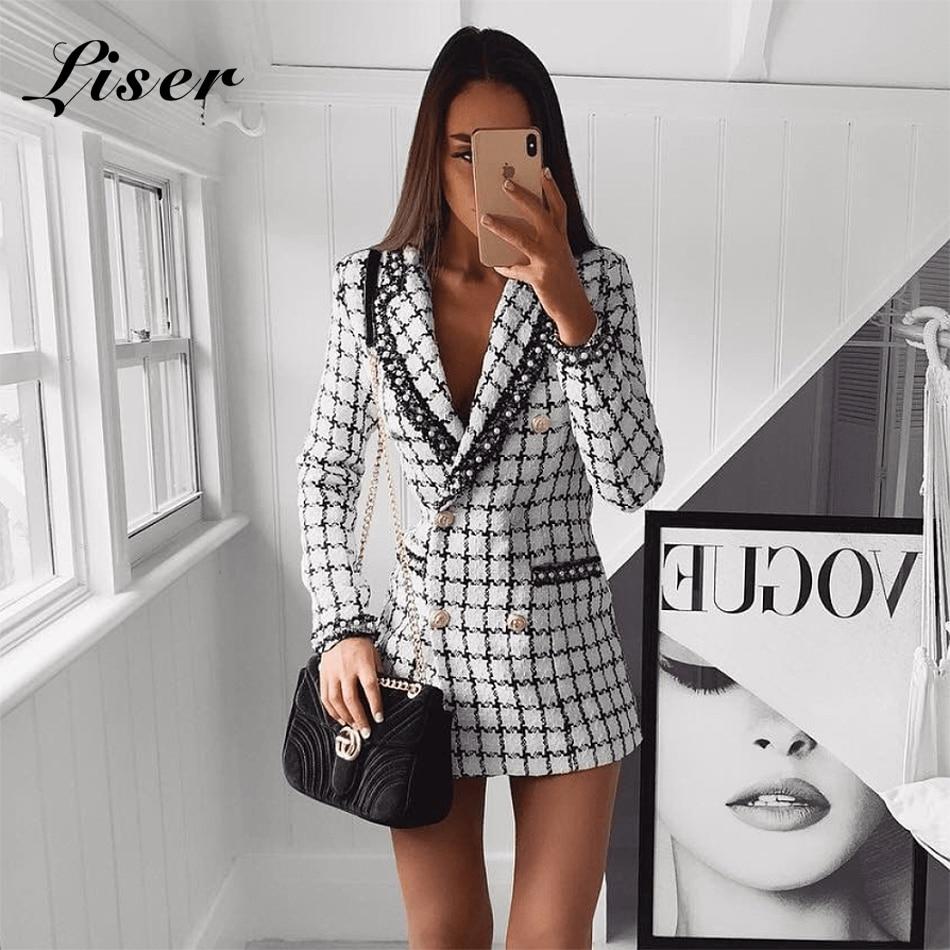 Blanc Sexy Col Party Robes Gros En 2018 Bouton V New Veste Liser Moulante Femmes Summer Celebrity Élégante Vestes wz7a6xCqT