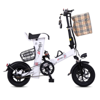 Mini Electric Bike 12 Inch Power Folding Scooter Adult Small Generation Drive Electric Bicycle Lithium Battery