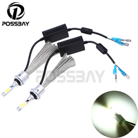 1 Pair Auto Car Headlight Bulbs Waterproof Surper Bright 6500K White External Light 9006 HB4 880