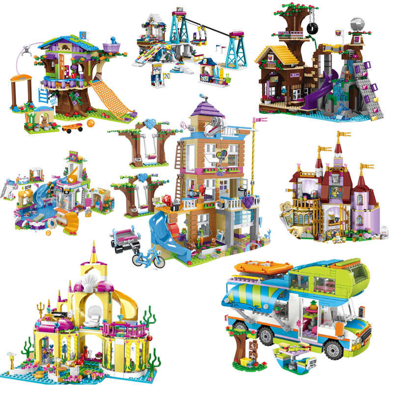 Playmobil Girls Friends Building Blocks House Mermaid Princess Castle Bricks Model Figures Kids Toys for Children